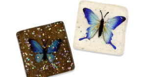 DIY Butterfly Resin Coasters